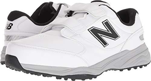 New Balance Men's CB'49 Hook and Loop Closure Waterproof Spikeless Comfort Golf Shoe, White, 10.5 4E 4E US