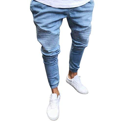 Straight Base Streetwear In Casual Estivi Blau Estilo Slim Uomo Moto Original Fit Da Jeans Pantaloni Especial Denim Regular 1nf7Zx