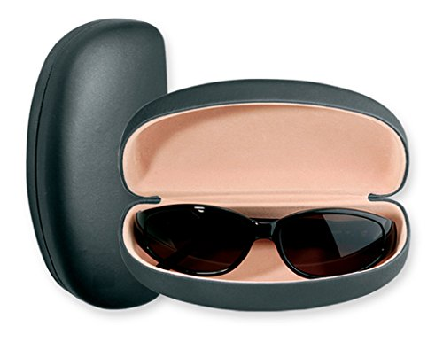 Large Sunglasses Case For Men & Women, Hard Shell Eyeglass Case In Smooth Matte Black