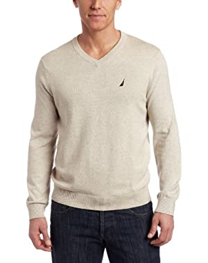 Men's V Neck Solid Sweater