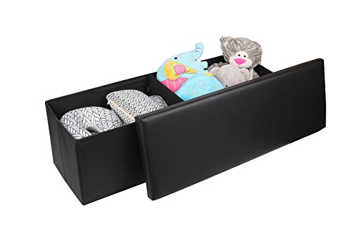 faux-leather-folding-storage-ottoman-toy-chest-shoe-bench-hope-chest-black-versatile-space-saving-43