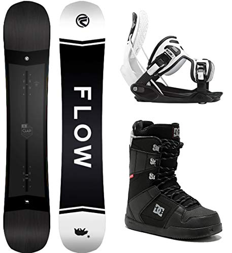 Flow Gap 149 Men's Complete Snowboard Package Bindings DC Phase Boots