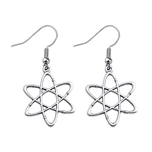 (FUSTMW Atomic Science Symbol Keychain Never Trust an Atom They Make Up Everything Chemistry Scientist Physicist Chemist Teacher Gift Science Lovers Jewelry Gift (Atom Earrings))