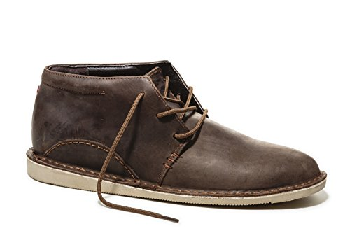 Oliberte Men's Nkoto Brown/Yellow Pullup 42/9 Chukka Boot by Oliberte