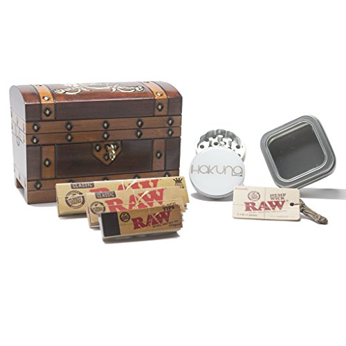 Pirate Lock Box Bundle - 6 pc. Smoke Accessories Bundle…