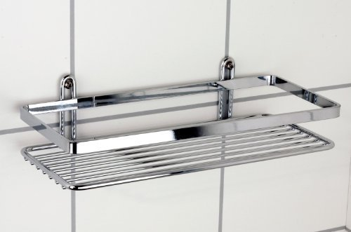 Satina Single Rectangle Chrome Shower Caddy 25x11x4cm Made in Sweden ...