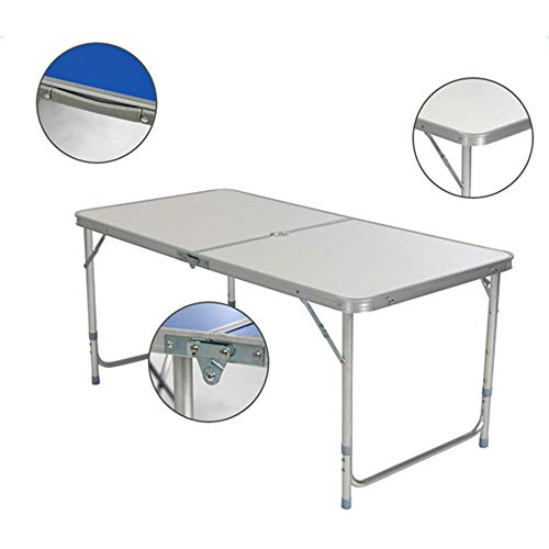 Ferty Folding Picnic Home Use Aluminum Alloy Table Adjustable,Portable and Lightweight, for Outdoor,Camping,Picnic,BBQ,Party and Dining US Stock 47 Lx24 W