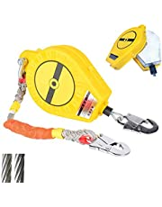Retractable Fall Protection Tool Safety Lanyard for Connecting Safety Harness, Impact-resistant Aluminum Alloy Housing