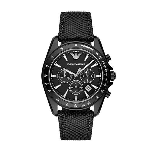 Emporio Armani Men's AR6131 Sport Black Nylon Quartz Watch ()