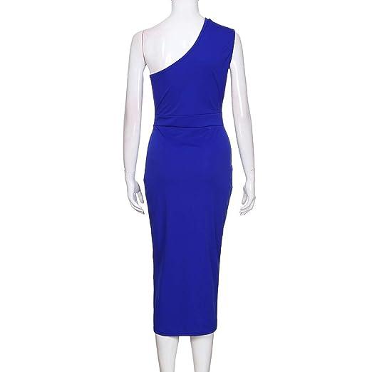 3befc4491 Vestidos de Fiesta Mujer Mosstars Vestidos Largo Suave Lentejuelas de  Cintura Alta Atractiva sólida Mujer Vestido