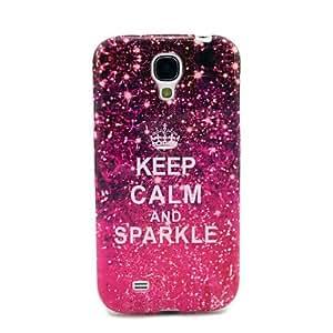 SHOUJIKE Keep Calm And Sparkle Glossy TPU Soft Case for Samsung Galaxy S4 I9500
