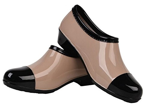 Boots Rain Work Waterproof Women Rain SHOCK Low Fashion Antiskid Khaki Pumps Footwear ACE Top aq8f5ww