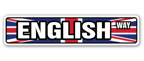 ENGLISH FLAG Street Sign england national nation pride country| Indoor/Outdoor |30