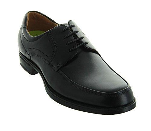 Florsheim Men's, Midtown Moc Toe Lace up Oxfords Black 11.5 D ()