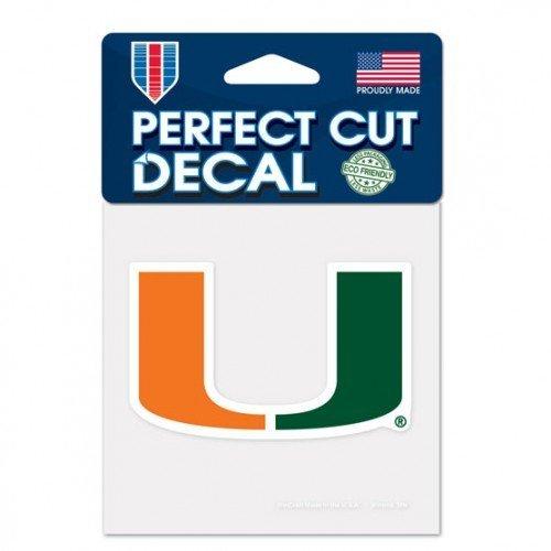 - Miami Hurricanes Logo Perfect Cut Decal 4 X 4 Primary U Logo