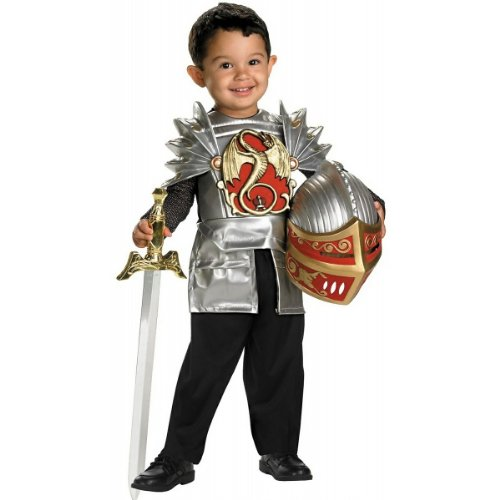 Disguise Knight of The Dragon, Gold,red,silver, 3T/4T -