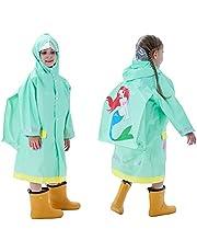 Keyck Regenjas Voor Kinderen Waterdicht Ademend Lichtgewicht Wandelen Meisjes Jongens Regenponcho Running Racefiets Opvouwbaar Leuke Cartoon Patroon(Meerdere Stijlen)