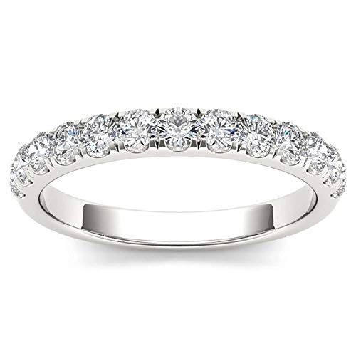(De Couer IGI Certified14k White Gold 1/2ct TDW Diamond Wedding Band (I-J, I2))