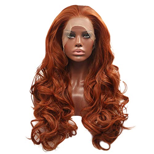 RedBrowm Curly Wig Glueless Full Lace Wigs Red Women Indian Remy Human Hair Lace Front 2