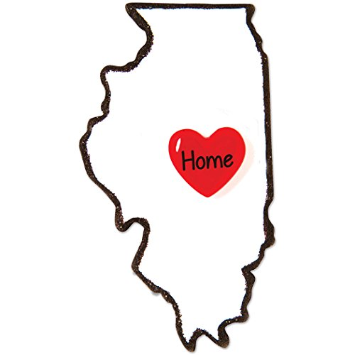 Personalized Illinois Christmas Tree Ornament 2019 - State Home Heart Prairie Chicago Lake Michigan Wills Tower Tribune Holiday Travel Tourist Away Love First Visit Gift Year - Free Customization