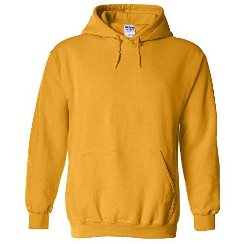 NEW GILDAN 18500 HOODIE HOODED SWEATSHIRT Heavy Blend Adult HOODIE SWEATSHIRT Gold S