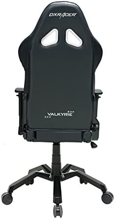 DXRacer Valkyrie Series OH VB03 NW Racing Seat Office Chair Gaming Ergonomic Adjustable Computer Chair with – Included Head and Lumbar Support Pillows Black White
