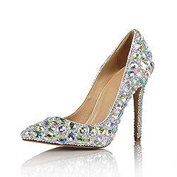 Women's Sequin Crystal Wedding Shoes