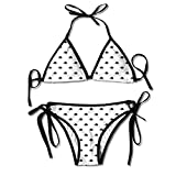 Jiuyuan Women's Cute Hedgehog Pattern Sexy Bikini Swimsuit Suit Set Triangle Swimwear