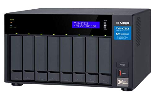 QNAP TVS-872XT-i5-16G-US 8 Bay Thunderbolt 3 NAS with 16GB RAM, 10GbE, M.2 PCIe NVMe SSD slots by QNAP (Image #1)