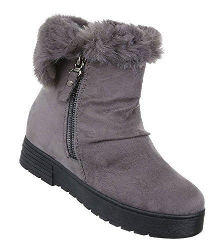 Damen Winter Stiefeletten   Winterstiefel gefüttert   Dick gefütterte  Schneestiefel   Kunst Fell Winter Boots   62a1927ed6