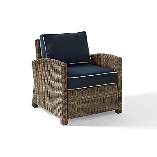 Crosley KO70023WB-NV Bradenton Wicker Arm Chair