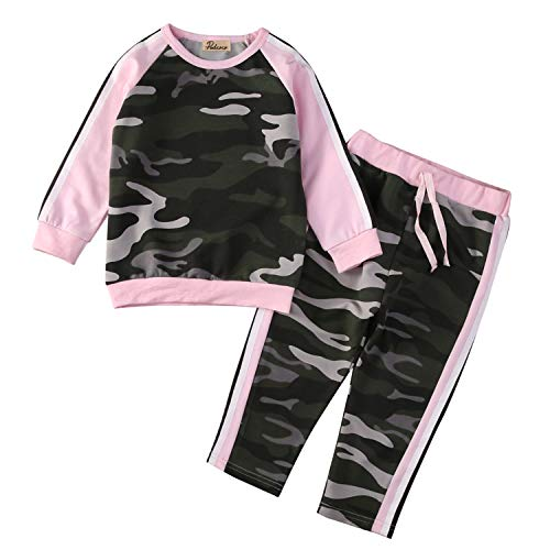 Fashion New New 2PCS Kids Baby Toddler Girls Boys Long Sleeve Clothes Set T-Shirt Tops + Pants Leggings Outfits 4T