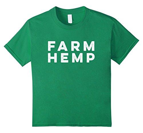Price comparison product image Kids Farm Hemp Industrialized Hemp Products Advocacy T Shirt 10 Kelly Green