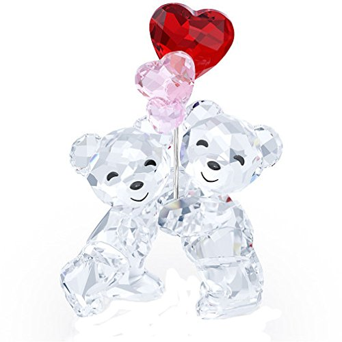 Swarovski 5185778 Bears with Heart Balloons Kris Collectible Figurine