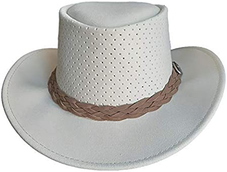 Made in Australia Camel Brown, Large Aussie Chiller Original Outback Bushie Cooling Hat with Soak Me Design for Hot Weather Comfort