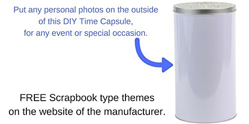 DIY Gifts - Time Capsule Keepsake Kit Storage Container Tin for Any Occasion Party Celebration - Message to The Future…