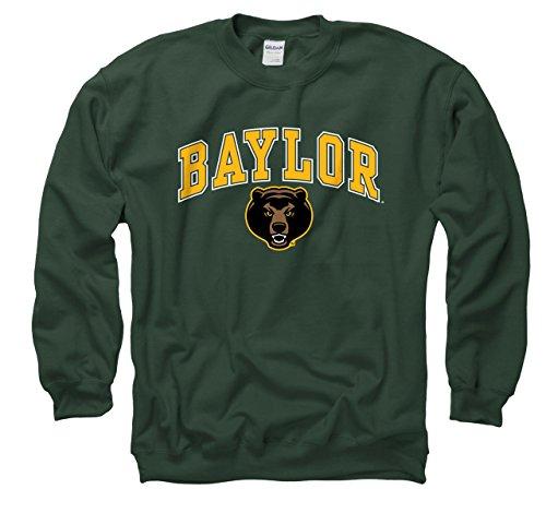 Campus Colors Baylor Bears Adult Arch & Logo Gameday Crewneck Sweatshirt - Green, Medium