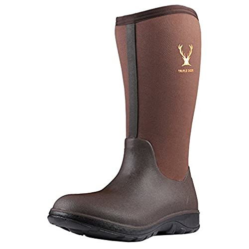 e534fee6575 Triple Deer Men Neoprene Rubber Rain Boots Waterproof New AIO Tall ...