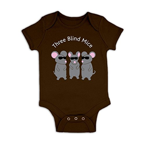 Three Blind Mice Baby Grow   Chocolate 3 6 Months