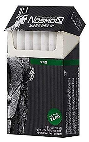 NosmoQ Herbal Cigarettes 1 Pack(20 Sticks), Menthol, Oriental Eucommaie Leaves, No Nicotine, No Tobacco, No Addictive Chemicals, Since 2001 Korea Smoking Cessation Adjuvants No.1