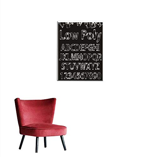 Art Decor Decals Stickers Vector Lowpoly Outline Font Mural - Font Outline