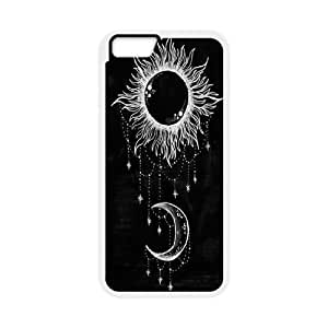 """ZK-SXH - Sun and Moon Personalized Phone Case for iPhone6 4.7"""", Sun and Moon Customized Cover Case"""