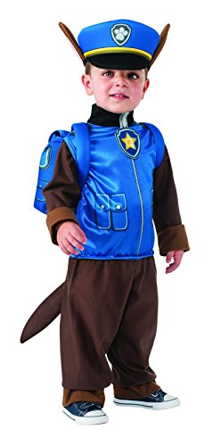 Rubie's Costume Toddler PAW Patrol Chase Costume, X-Small Child (Toddler Shepherd Boy Costume)