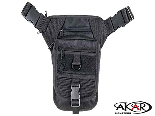 Akar Multi-Functional Advanced Tactical Shoulder/Waist Bag for Concealed Gun Carry-Fanny Pack, Cordura Nylon. (Glock 19 Too Big For Concealed Carry)