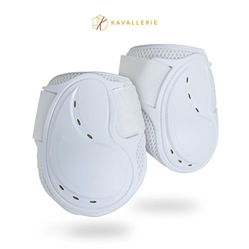 Kavallerie Classic Fetlock Boots, Impact-absorbing and Air-Perforated Material, Durable & Evenly Distributes Pressure, Fetlock Injury Protection, Non- Slip with Soft Lining Show Jumping (Fetlock Boots)