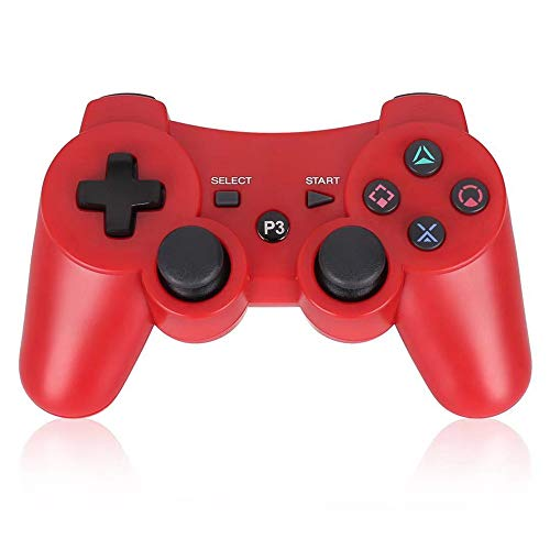 PS3 Controller Wireless Double Shock Controller Gamepad for Playstation 3 with Charge Cord