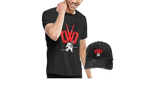 Man CWC Chad Wild Clay Ninja Retro T-Shirt with Cowboy Hat