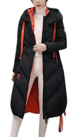 Amazon.com: Youtobin Women's Winter Fashion Cammy Long Maxi Down Coat With Big Warm Hood: Clothing