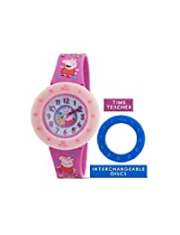 Peppa Pig Learn to Tell the Time Watch in Pink with Blue and Pink Dials
