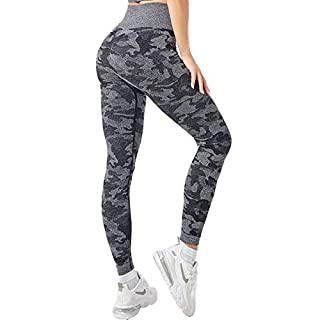 ANEDIT Camo Seamless Leggings High Waist Workout Gym for Women Breathable Yoga Running Pants